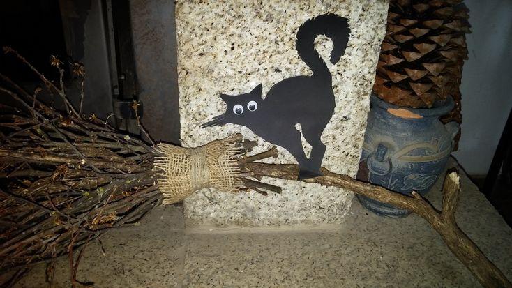 Como fazer vassoura de bruxa - DIY - How to make a witch's broom