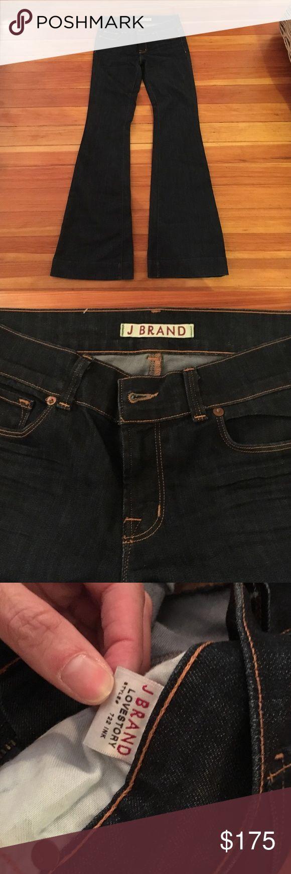 J brand Lovestory J Brand Lovestory flares in Ink. Never warn J Brand Jeans Flare & Wide Leg