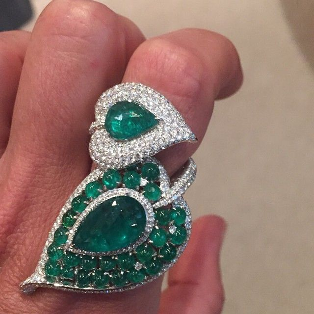 Emerald Ring by Saboo. Collection will be available in store until the 21st of February