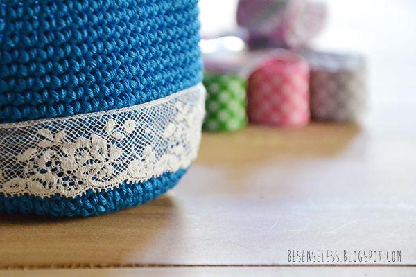 Craft weekend #0 - crochet cotton yarn and sewing ribbon - cotone, uncinetto e nastri da cucire - besenseless.blogspot.com