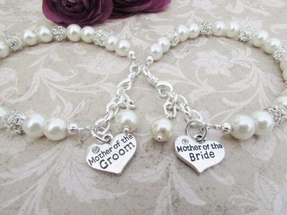 Mother Of The Bride Bracelet Groom Gift Bridesmaid Jewelry Bridal Party Grandmother Nana