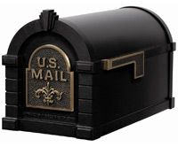 Keystone Decorative Curbside Residential Mailbox and Standard Mailbox Post Mailbox Works