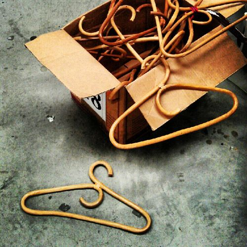 Jessica Bellef: Cane clothes hangers. This op shop moment had to be captured. Some people stroll through museums to pass time and glimpse all that has been. I would rather fossick in an op shop or vintage store to lose myself and connect with the past.