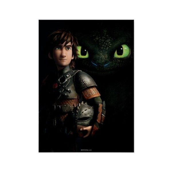 Hiccup & Toothless Posters (229.120 IDR) ❤ liked on Polyvore featuring home, home decor and wall art