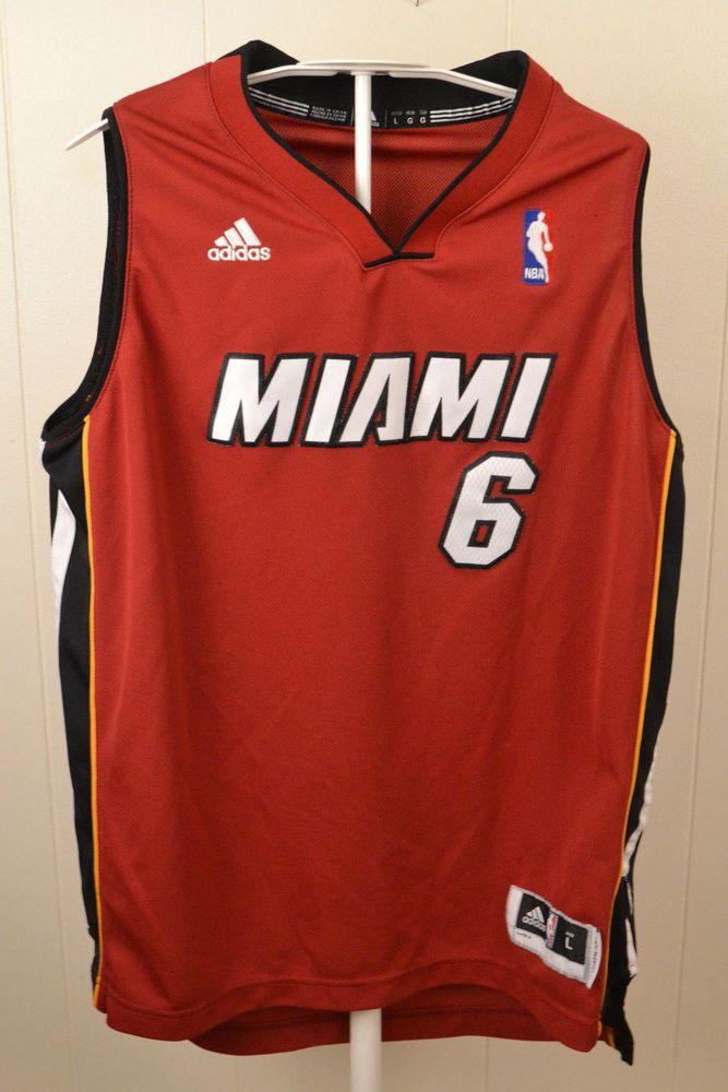 d19a23f67 ... DarcyGrayBlackBasketballJerseyHtml Adidas Red Miami Heat NBA LeBron  James 6 Basketball Jersey Youth Large Red Sewn ...