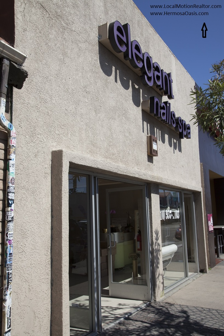 This is the closest nail salon with full service. Large massage chairs with tubs to soak your feet in and relax.  Directions: Head South towards Pier Plaza. Turn left on Hermosa Ave.. Turn right on Hermosa Ave and about one block down on the right side you will locate Elegant Nails.