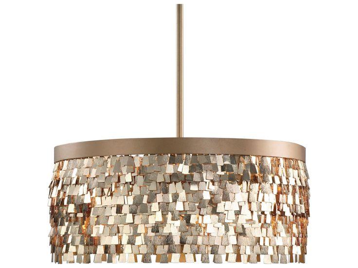 Uttermost Tillie Textured Gold Three-Light Pendant