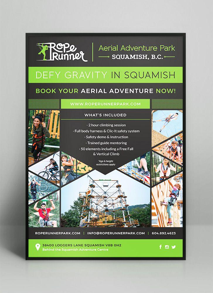 Rope Runner Aerial Adventure Park Lindsay Mcghee Designs Website Design Squamish Bc In 2020 Website Design Print Advertising Tradeshow Banner