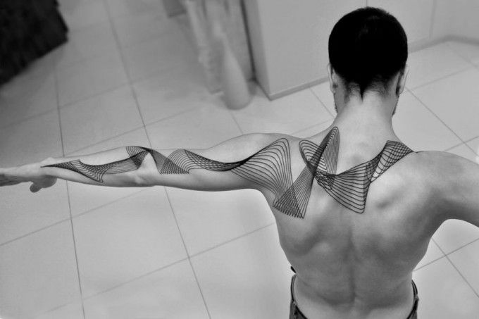 Line Wave Tattoo By Tattoo Artist Chaim Machlev | Tattoo Sleeve: 53 Fashionable Ideas