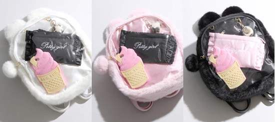 WEGO Furry Bunny 'Ita-bag' Clear Flap Backpack  Popular Japanese clothing brand WEGO has come out with a line of furry cat-like bags, designed for the popular anime 'ita bags,' which are bags where you fill the front with merchandise of your favorite character or series.
