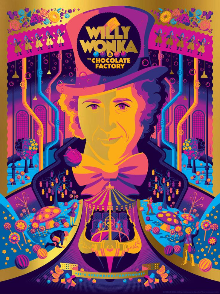 this-willy-wonka-and-the-chocolate-factory-poster-art-is-a-colorful-explosion-of-pure-imagination9