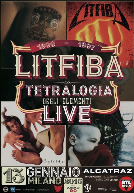 """Litfiba """"Teatralogia degli elementi live"""" - 13.01.15 Alcatraz Milano"""