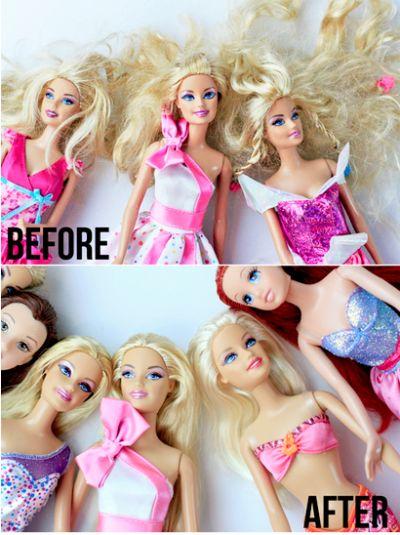 Como lavar os cabelos da boneca Barbie? - Just Real Moms
