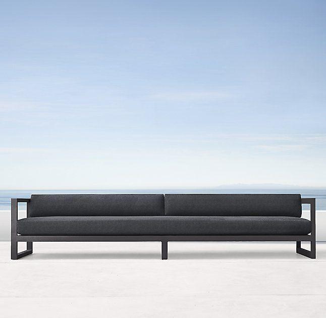 """123"""" Aegean Aluminum Sofa"""