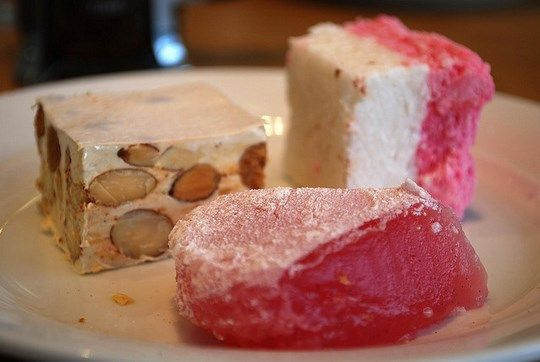 Nougat, Turkish delight, and coconut ice. By avlxyz (Flickr)