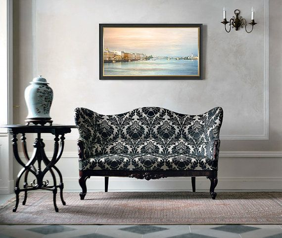 Panoramic photo, St Petersburg cityscape, large art print, Panoramic wall art, pastel art photography, living room decor, 10x20,18x36, 20x40