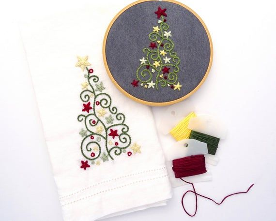Christmas Tree Trio Hand Embroidery Pattern Christmas Napkin Etsy In 2020 Christmas Embroidery Patterns Embroidered Christmas Ornaments Hand Embroidery Pattern