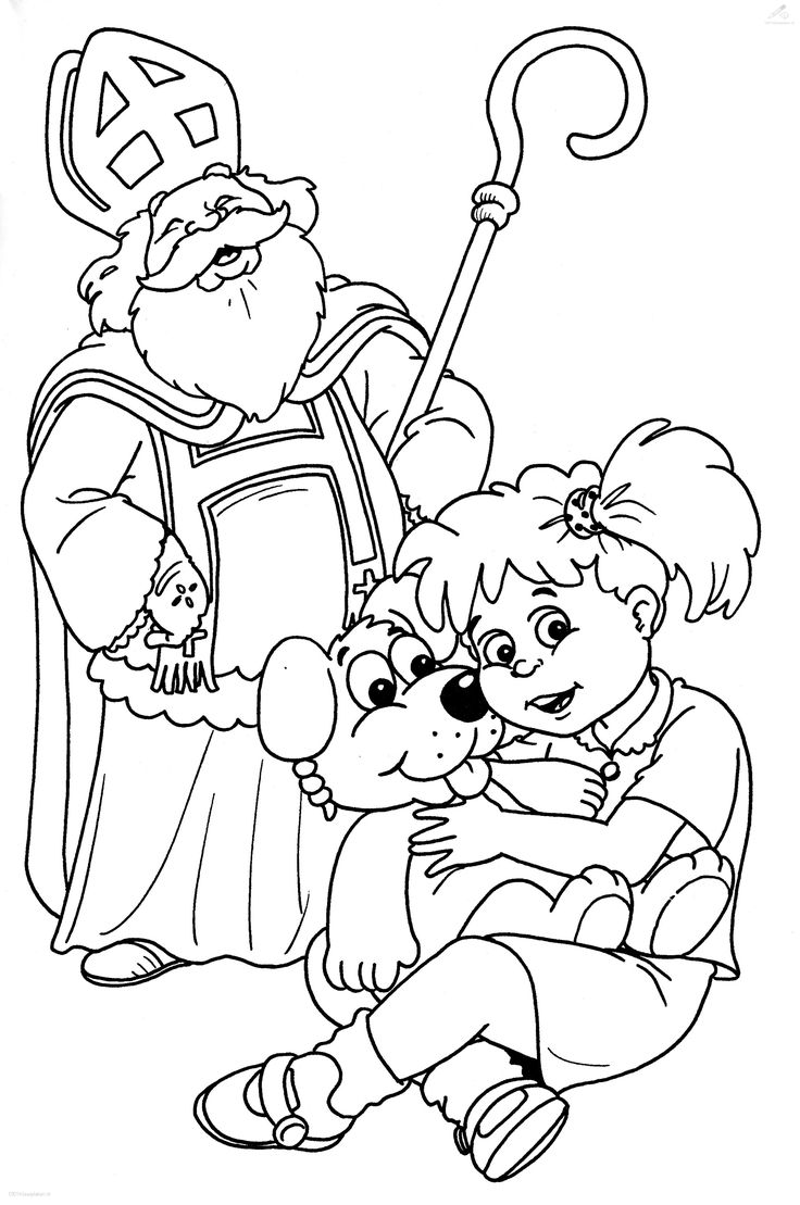 sinterklaas coloring pages - photo#15