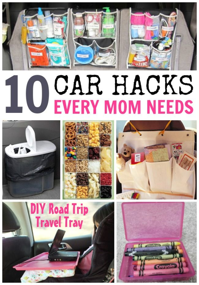 10 Car Hacks Every Mom Needs: My car needs ALL of these! I especially love the genius pillow case idea.