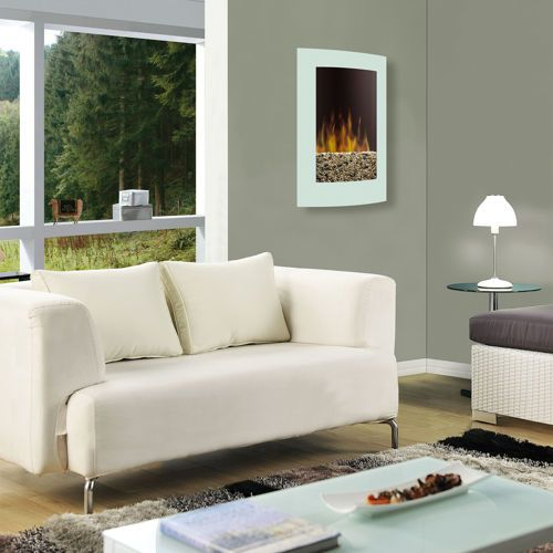 Dimplex® Convex Wall Mount Electric Fireplace - White