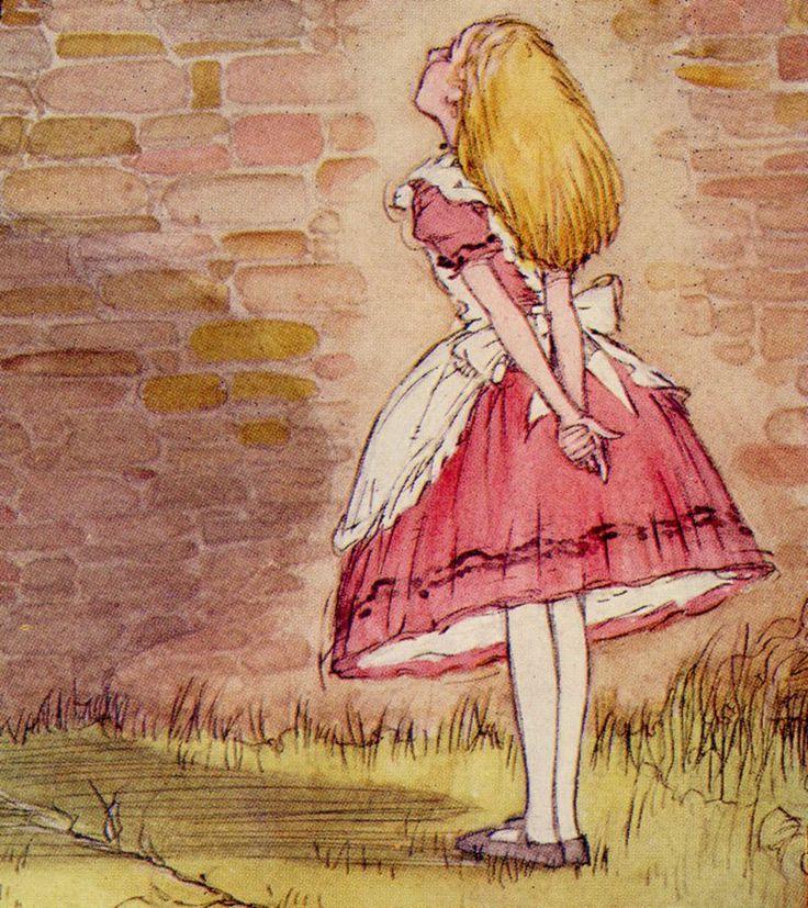 Картинки акварелью алиса в стране чудес