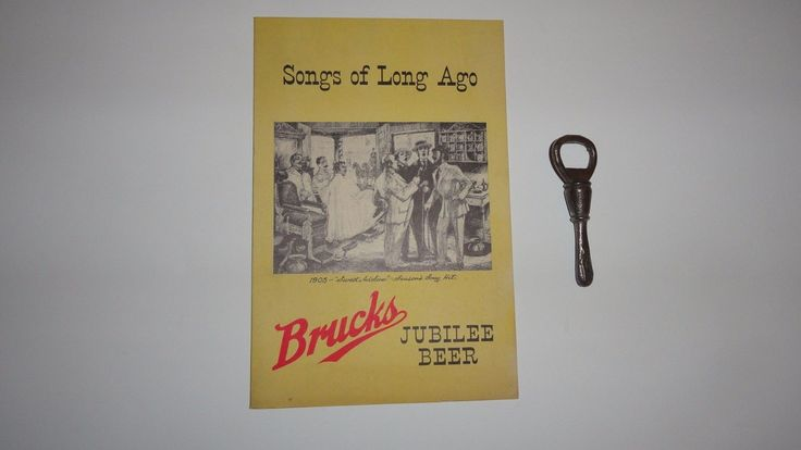 Antique Scarce Cincinnati Bruck's Beer Opener Jubilee Beer Song Book Est 1856