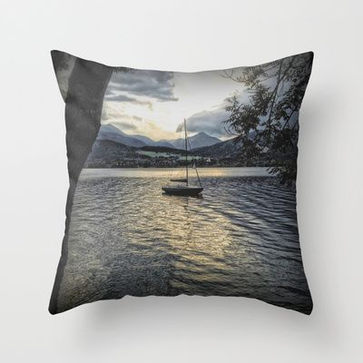 Misty Waters Throw Pillow by AngelEowyn. $20.00
