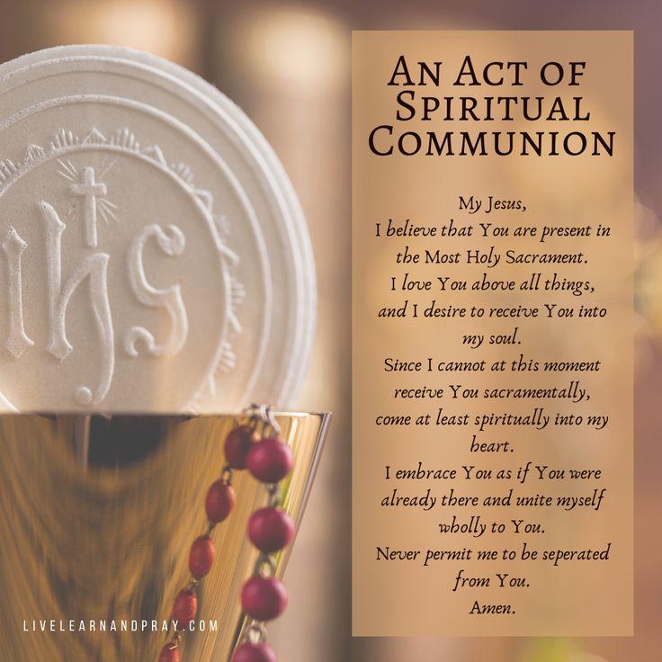 An Act of Spiritual Communion in 2020 Spiritual