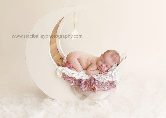 The original moon prop newborn photography prop moon moon photo prop wood