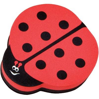 "Magnetic Whiteboard Eraser, Lady Bug shape, 3-1/2"" x 3-1/2"" via @KnowledgeTree"