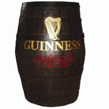 Cottage Style Irish Pub Barrel drink stand un barril de mesa o medio barril en la fachada  sobre el cual va una planta...