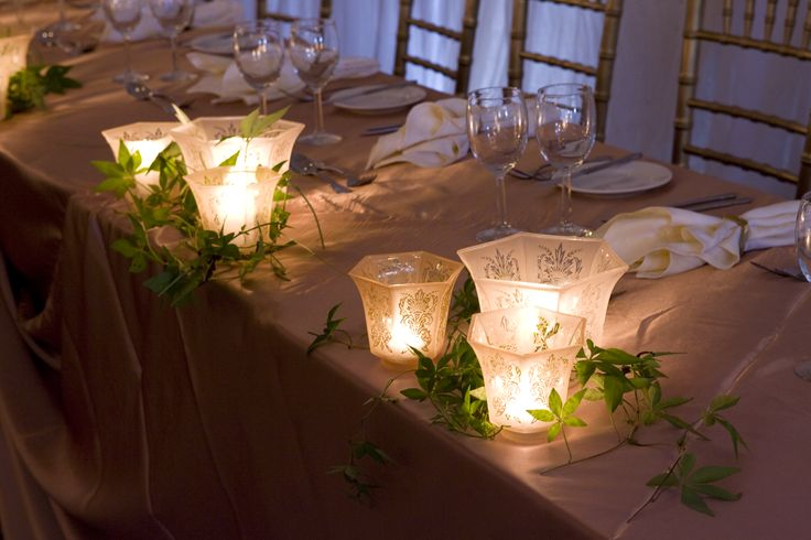 Votive candle holders tables - Sydney Prop Specialists