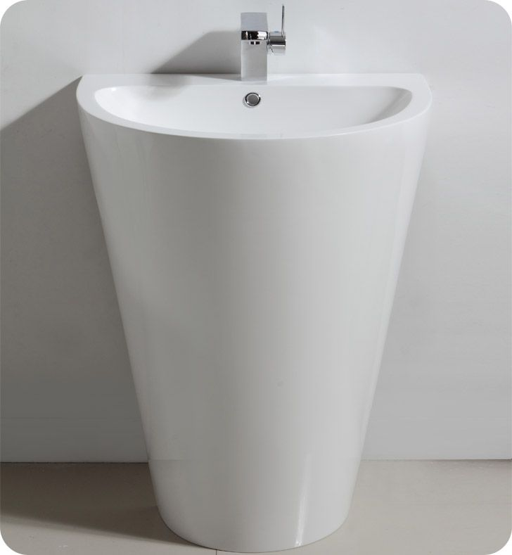 The Fresca Parma Pedestal Sink Modern Bathroom