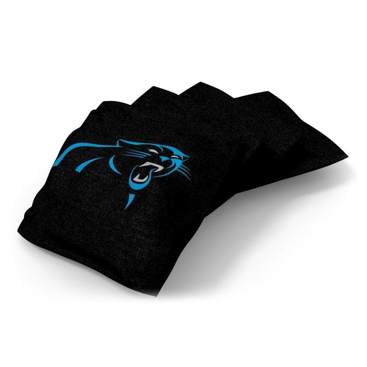 Wild Sports Carolina Panthers Regulation Cornhole Bean Bag Set 4 Pack