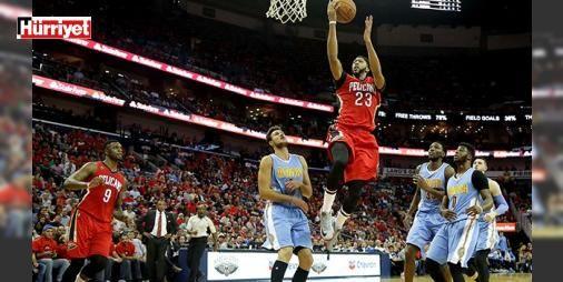 Yok artık Davis! 50 sayı... : Amerikan Basketbol Liginde (NBA) New Orleans Pelicans forması giyen Anthony Davis takımının 107-102 kaybettiği Denver Nuggets maçını 50 sayı 16 ribaunt 5 asist 7 top çalma ve 4 blokla tamamladı.  http://www.haberdex.com/spor/Yok-artik-Davis-50-sayi-/56156?kaynak=feeds #Spor   #sayı #Davis #maçını #Nuggets #kaybettiği