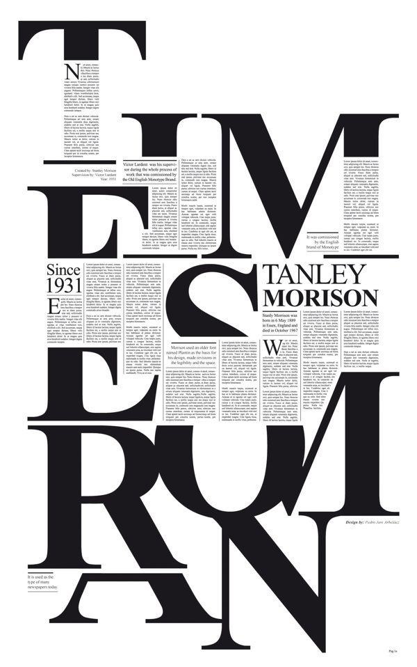I love this typography poster. Times New Roman.. Classic Humanist typeface. I'm…