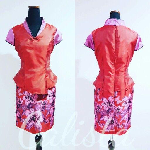 Chinese dress, flower qipao