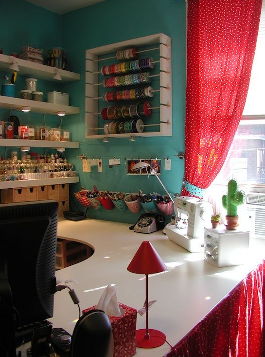 : Crafts Area, Crafts Rooms, Ribbons Storage, Crafts Spaces, Rooms Ideas, Crafts Corner, Craftroom, Sewing Rooms, Rooms Organizations