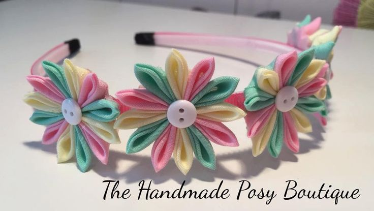 Handmade Kanzashi Flower Headband for by HandmadePosyBoutique