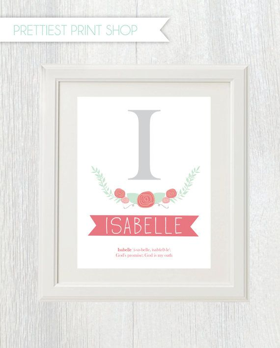 The 25 best baby names and meanings ideas on pinterest names of printable nursery art storybook initial with babys name and meaning personalized gift for new negle Gallery