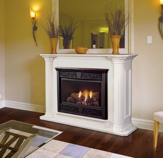 Vent Free Fireplace System With Unfinished Wall Cabinet, Liquid Propane.  Find This Pin And More On Ventless Gas Log ...