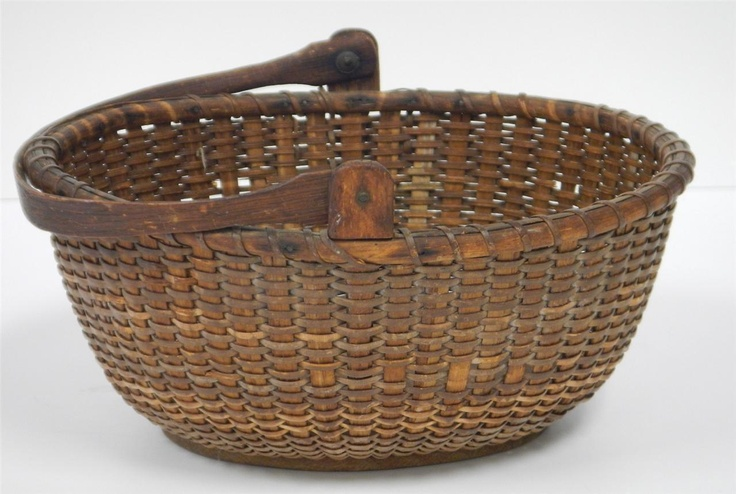 Vintage Nantucket Light SHIP Basket | eBay  sold   348.00      ~♥~
