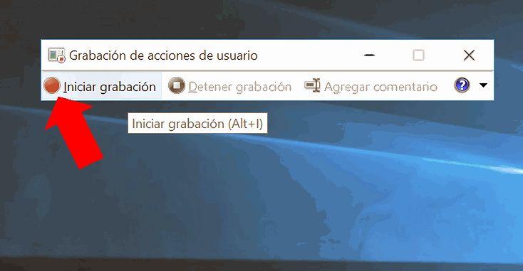 Grabar las acciones de usuario en Windows 10