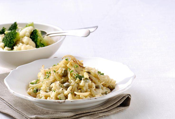 Macaroni Carbonara met kappertjes en salade recept   Solo Open Kitchen