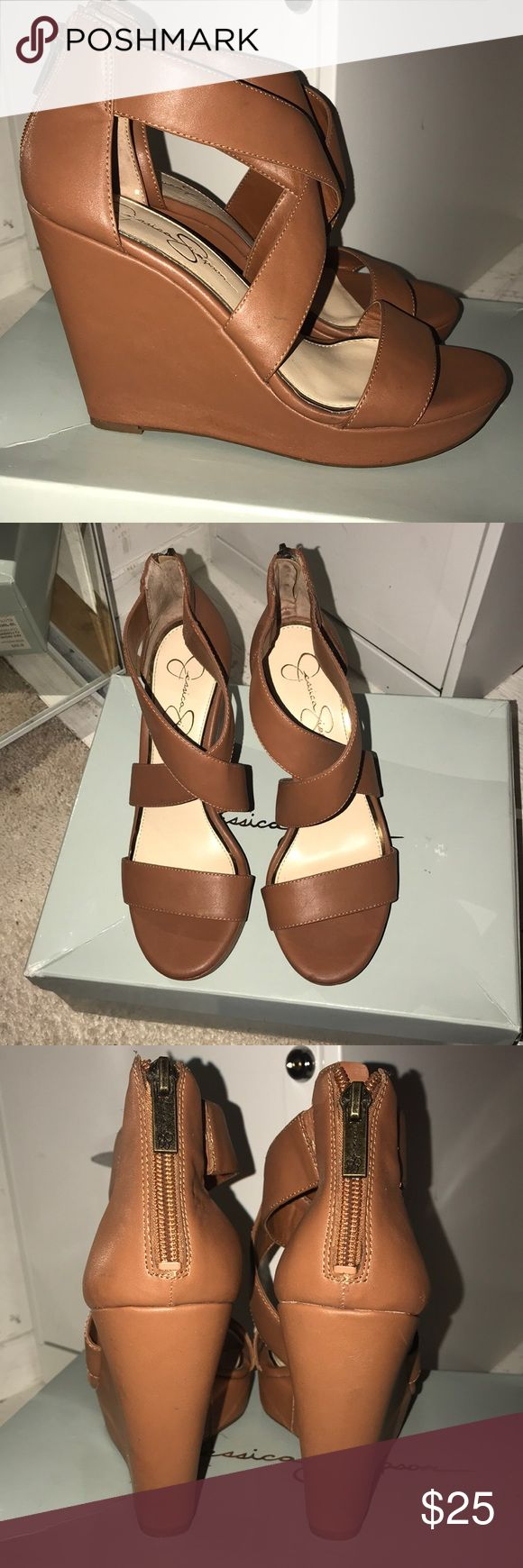 Jessica Simpson Wedges Jessica Simpson wedges in excellent condition  Worn twice.  No scuffs or stains. Jessica Simpson Shoes Wedges