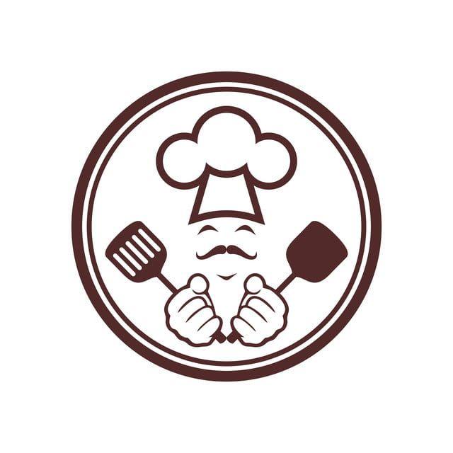 الشيف مجردة مطابخ أيقونة شعار الكعكة Chef Logo Logo Food Food Logo Design