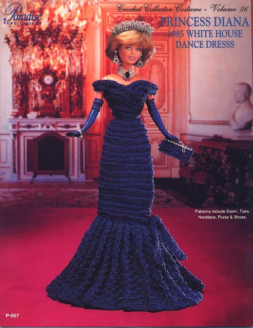 Barbie Princess Diana-White House ball gown.