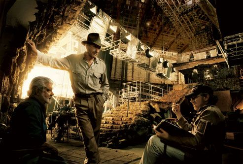 George Lucas, Steven Spielberg and Harrison Ford. By: Annie Leibovitz