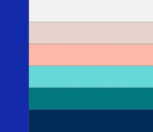 сочетание синего цвета фото