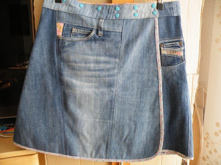 mona w. - Wickelrock, bestellt: Redesign aus alten Jeans ...